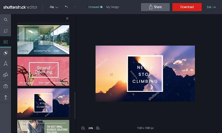 Shutterstock lanza su propio editor de imágenes online