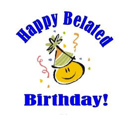 94 Belated Birthday Clipart Clipartlook