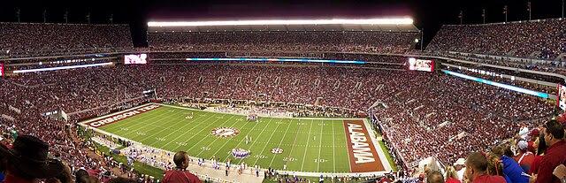 Bryant-Denny Stadium during an Alabama footbal...