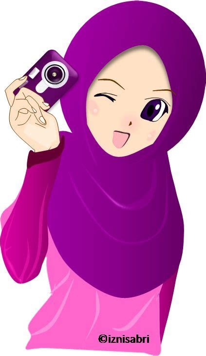 images  cartoon muslimah  pinterest