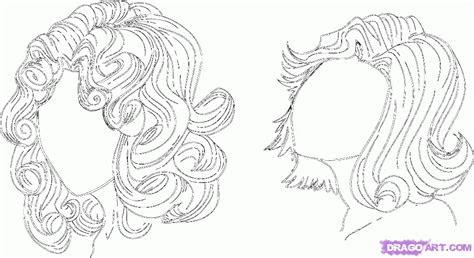 draw curly hair anime style step  step anime