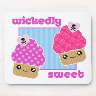 Wickedly Sweet Kawaii Cupcakes Mousepad mousepad