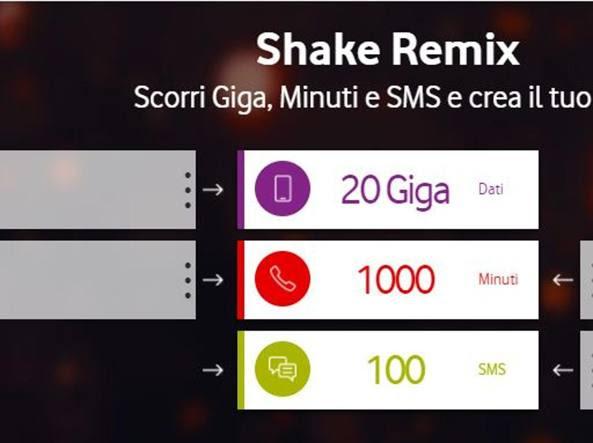 Risultati immagini per Vodafone  Shake Remix e Vodafone One
