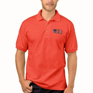 USA - American Flag Polo Shirts