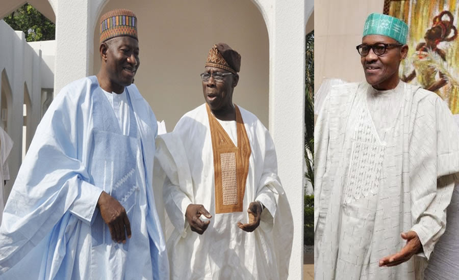 Image result for Buhari meets Obasanjo, Jonathan