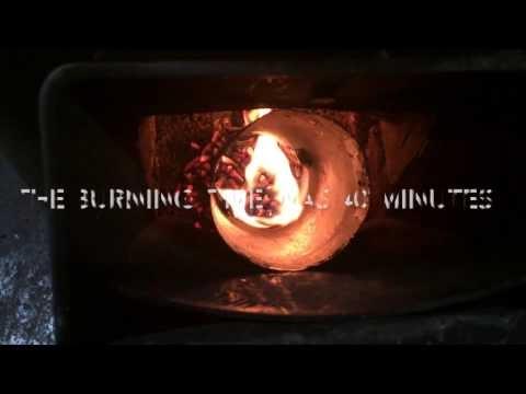 木質ペレットの燃焼試験