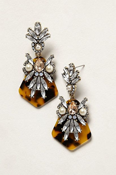 loving the tortoise art deco feel of these #anthropologie earrings!