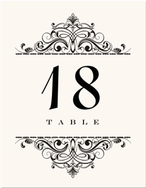 Wedding Table Numbers Vintage Table Number Designs Vintage