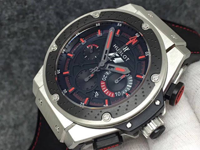 Hublot King Power Crown and Chronograph Buttons