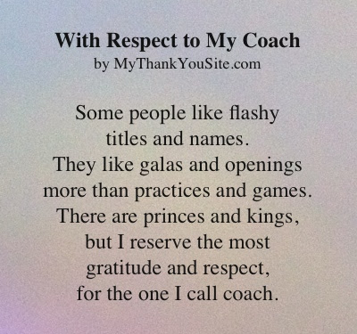 Thank You Poem To Coaches Cheer Coaches Too