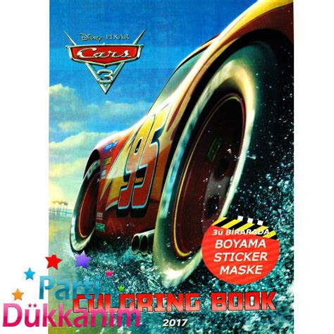 cars boyama kitabi stickerli  sayfa