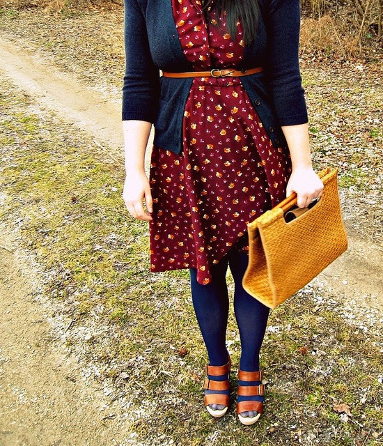 It's the time for dresses, cardigans and tights!