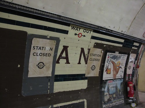 Original Strand tiling under posters. by IanVisits
