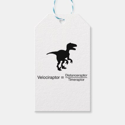 velociraptor funny science gift tags