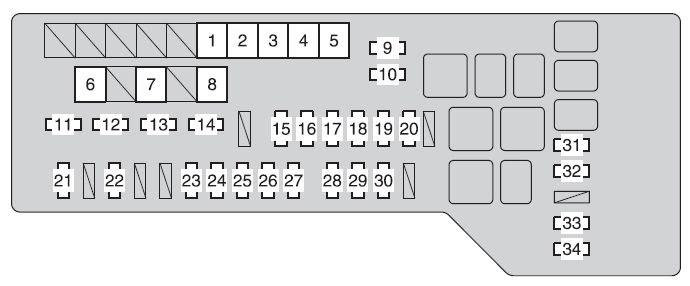 Toyota Avalon 2011 2012 Fuse Box Diagram Auto Genius