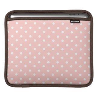 Sweet Pink Polka Dots iPad Sleeves