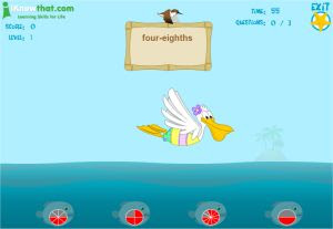 Fish and Pelican Fraction Game