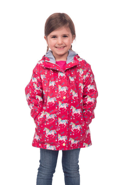 Evie Girls Printed Rain Jacket