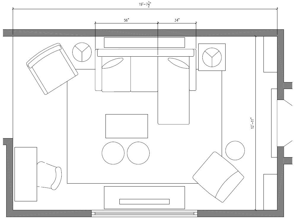 Living Room Makeover: Black + Bold + Budget - Jenna Burger