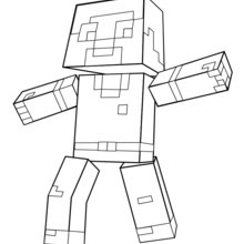 Dibujos Para Colorear Minecraft Un Homme Eshellokidscom