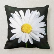 Jumbo White Shasta Daisy Flower Pillow throwpillow