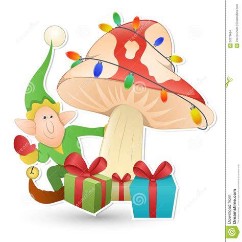cartoon cute elf christmas vector illustration stock