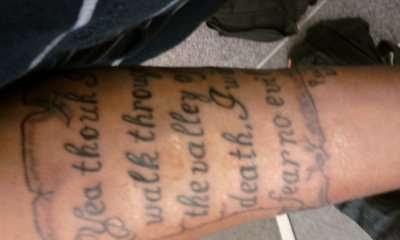 1st Tat Psalms 234 Tattoo