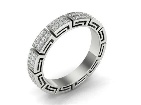 Versace Ring V2 3D Model 3D printable STL 3DM   CGTrader.com