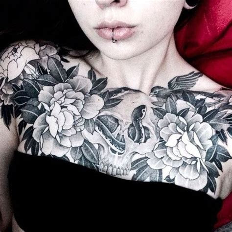 girls chest tattoo tattoo ideas gallery