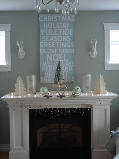 My holiday mantel  living room