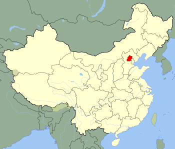 An SVG map of China with Beijing municipality ...