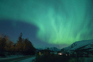 Aurora Borealis observed in Norway on 2006-10-28.