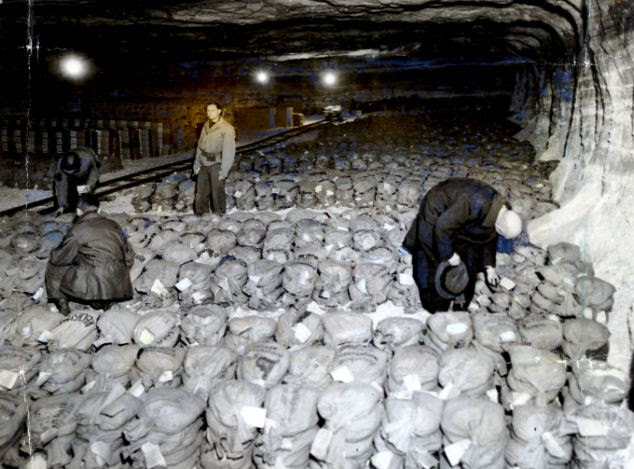 Earlier find: General Patton's third army discovered 100 tons of Nazi gold hidden in a salt mine near mockers, southwest of Gotha in 1945