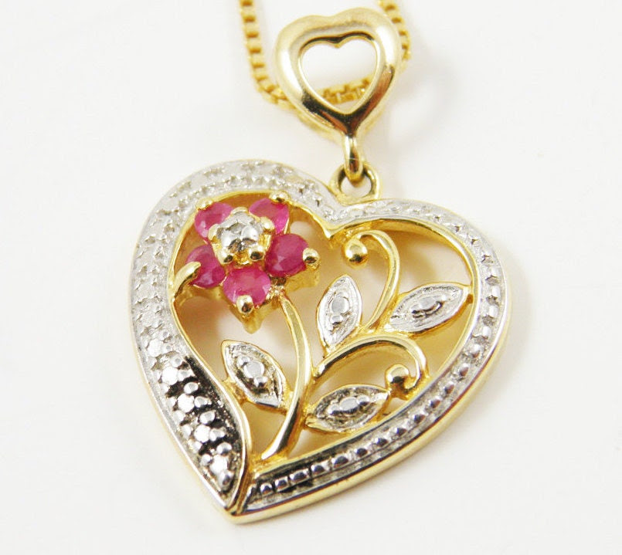 Gemstone necklace vintage on etsy