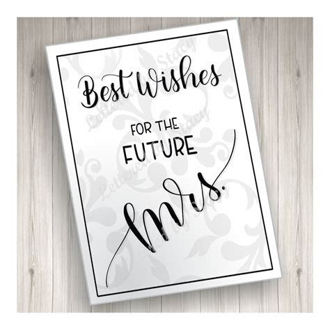 Bridal Shower Card   Best wishes for the future Mrs. with