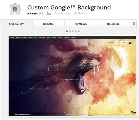 How to Customize Google Search background in Chrome