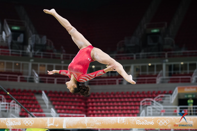 USA Gymnastics: Aug. 4 - Women's Podium Training &emdash; Laurie Hernandez