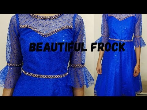 Indowestern Beautiful dress/frock With Chicken Net |\ Cutting