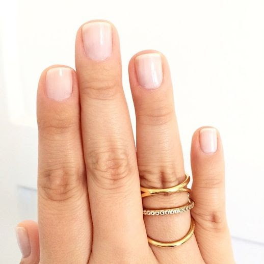 Le Fashion Blog Instagram Covergirl Nail Polish Forever Frosted Elizabeth And James Mondrian Pave Ring