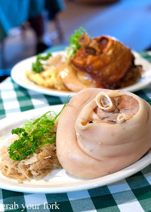 Boiled pork knuckle at Rhinedorf German Restaurant