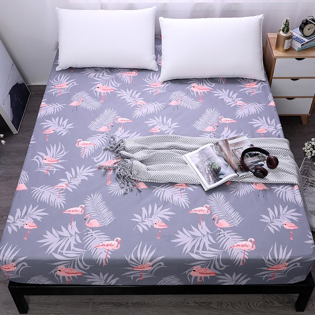 HOT OFFERS MECEROCK 100%Polyester Bed Sheet With Elastic Band Mattress Protector Printing Fitted Hotsale Cover Linens HOT PRODUCT TODAY Best Price H2 BUY Now RECOMMENDED