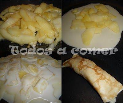 Cómo haeruna receta de crepes de manzana