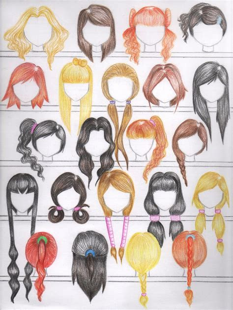 deviantart    female anime hairstyles