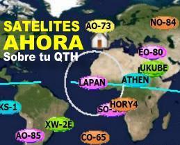 Satélites sobre tu zona
