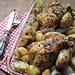 Galletti al forno con scalogni e patate