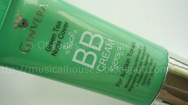 ginvera green tea nude cover bb cream