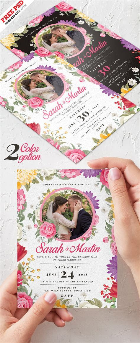 Wedding Invitation Card Design PSD   PSDFreebies.com