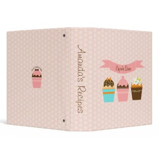 Cupcake Queen Recipe Binder binder