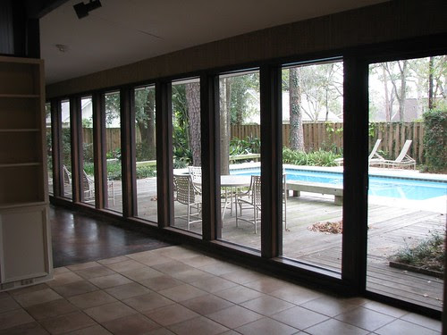 Back of the family room, looking out to backyard