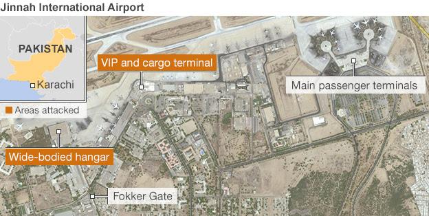 Map of Jinnah International Airport